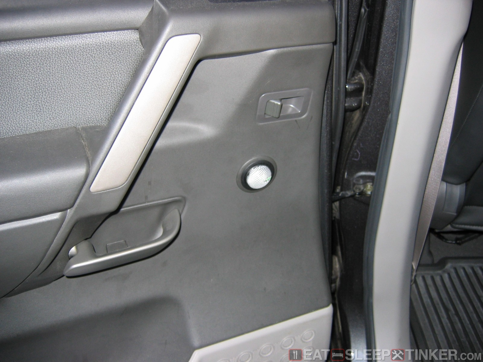 Rear Tweeter Installed In Stock Location & Eat Sleep Tinker.Installing component speakers in a Nissan Titan