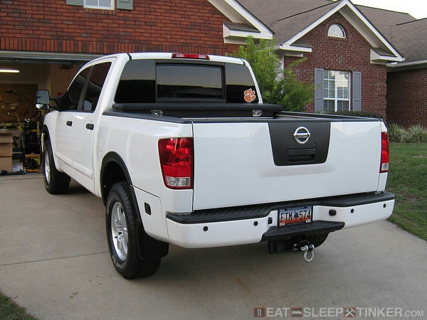 Debadge Nissan Titan (rear)