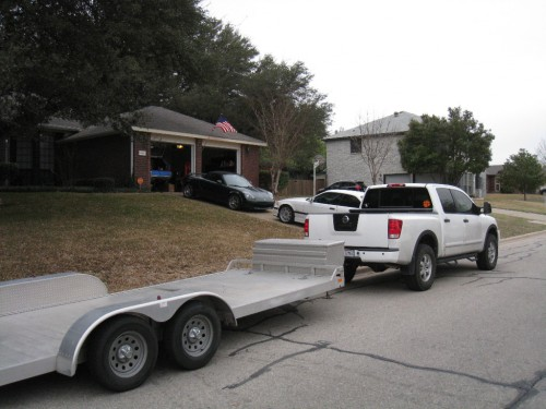 Trailer in the front yard