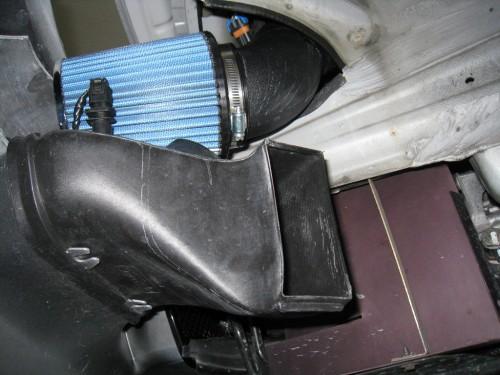 Filter above brake duct