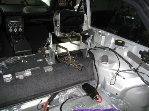 Mocking up rack in car