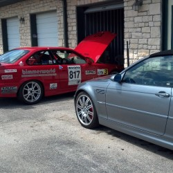 E36M3 club racer and E46M3 vert.