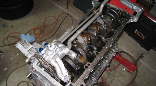 BMW S54 oil pan and dual pick-up pump conversion for S50/S52 Engines