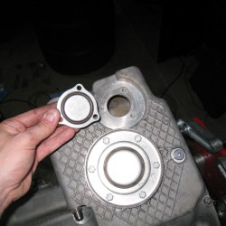 S54 oil pan oil level plate