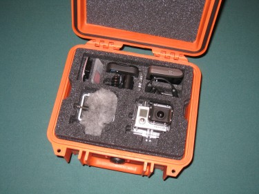 GoPro in Pelican Case