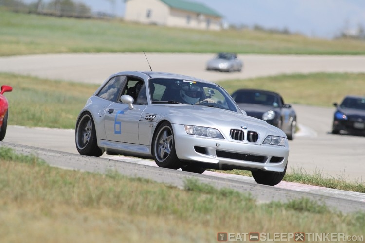 Leading an RX-7, Boxtter, and BRZ at MSR Cresson