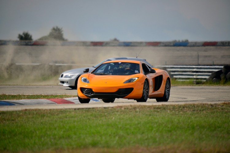 Spinning while chasing a McLaren
