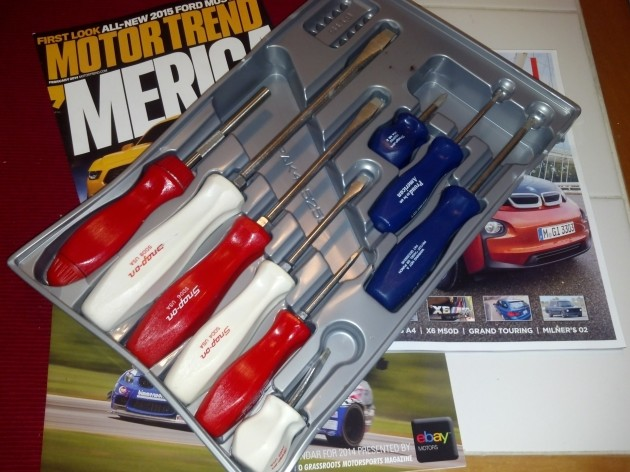 Red, White, and Blue Snap-On Screwdrivers