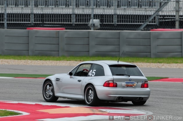 BMW M Coupe on COTA Turn 20