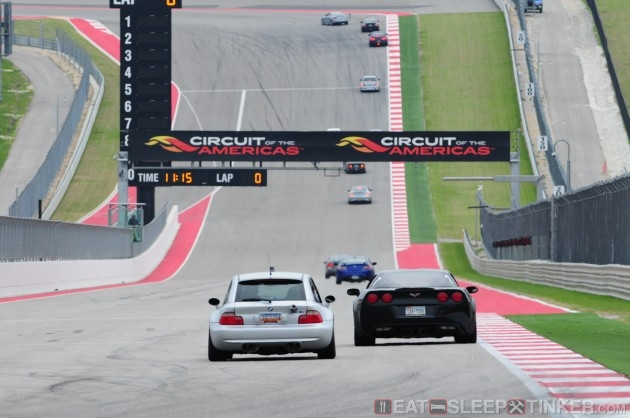 M Coupe on COTA front straight