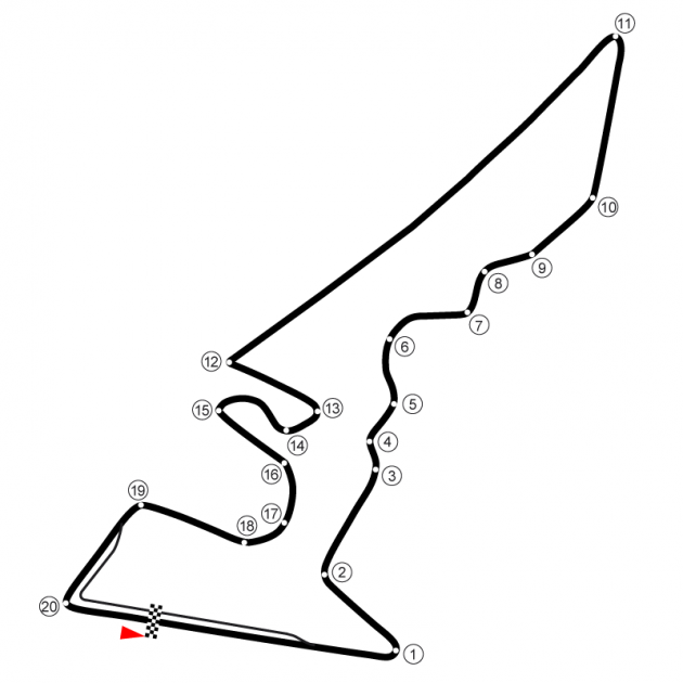 COTA Track Outline