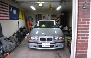 E36 M3 Sedan in the garage
