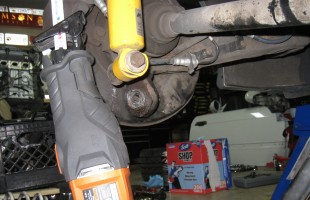 Cutting Control Arm Bolts