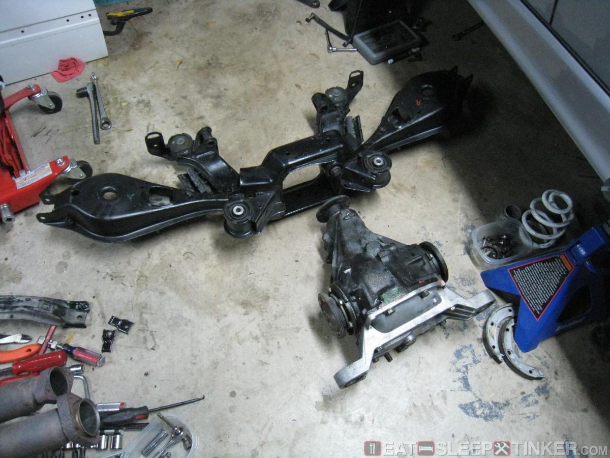eat sleep tinker e36 m3 rear suspension overhaul