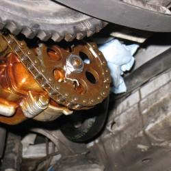 Safety Wired Oil Pump Nut
