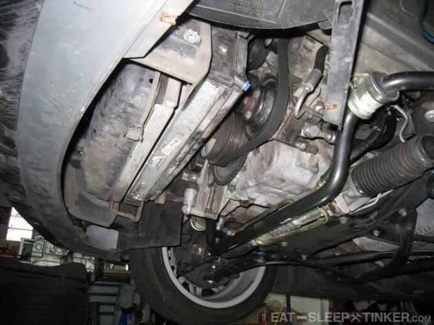 OEM Radiator Shield Removed