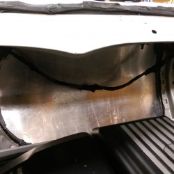 Aluminum blocking panel from engine bay