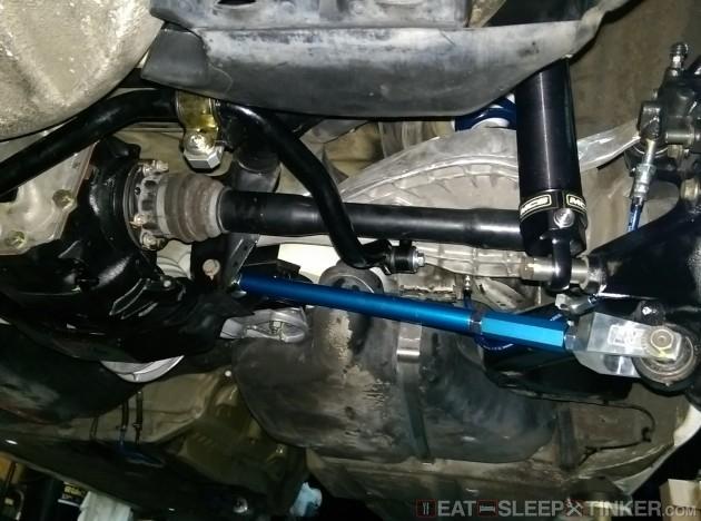 Rear sway bar and shocks