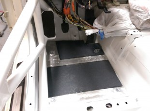 Floor Pan Installed with Grip Tape