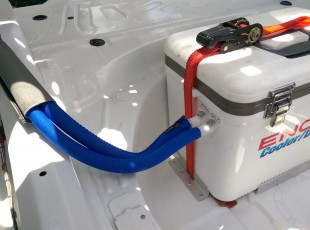 Insulated Hoses Connected to Cooler