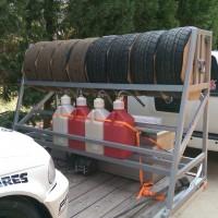 Homebrew Trailer Tire Rack