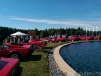 Ferraris around fountain