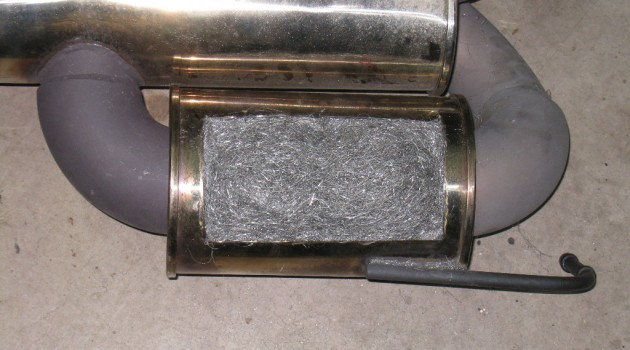 Repacking a Vibrant resonator with stainless steel wool